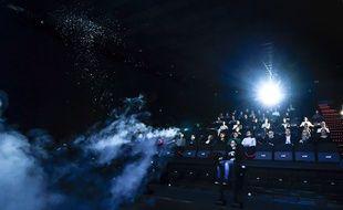 Illustration d'une salle de cinéma équipée en 4DX.