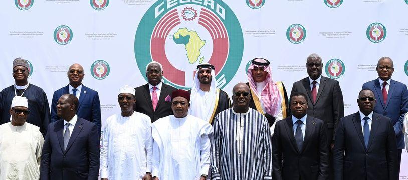Les présidents des pays d'Afrique de l'Ouest lors du sommet de la Cédéao à Ouagadougou le 14 septembre 2019.