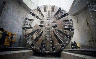Un tunnelier. (Illustration)