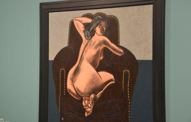 L'un des nus peints par Vincent Bioulès à son retour à la figuration.