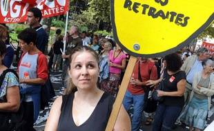 Lors de la manifestation contre la réforme des retraites le 7 septembre 2010 à Toulouse.