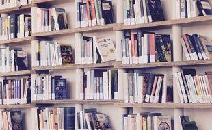 Une bibliothèque (illustration).