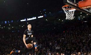 Zach LaVine a remporté le concours de dunks du All Star Game de la NBA, le 13 février 2016.