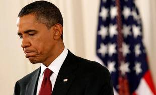 Barack Obama, après la défaite démocrate aux midterms, le 3 novembre 2010, lors d'une conférence de presse à la Maison Blanche.