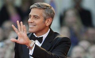 L'acteur américain George Clooney sur le tapis rouge de la 66e Mostra de Venise, le 8 septembre 2009.