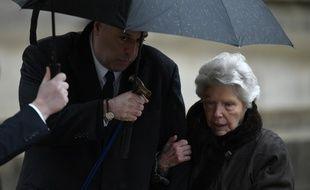 Raymonde Bocuse (ici aux obsèques de son époux) est décédée le 13  janvier 2019 à l'âge de 93 ans.