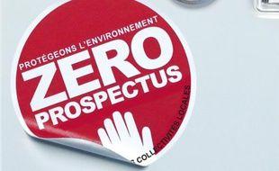 """Le logo de la campagne """"Zéro prospectus"""" de E.Leclerc."""