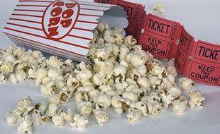 Des pop-corn, au cinéma. Illustration.