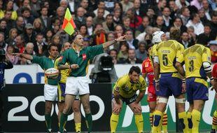 Jean-Pierre Matheu a arbitré la finale remportée par Perpignan face à Clermont, le 6 juin 2009 au stade de France.