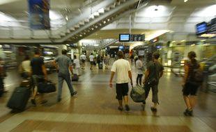 La gare de la Part Dieu de Lyon, le 17 aout 2011. CYRIL VILLEMAIN/20 MINUTES