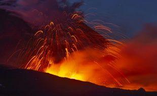 L'Etna en éruption.