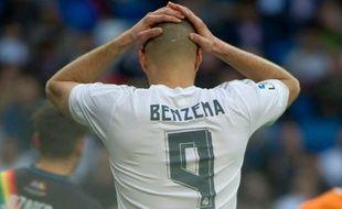 Karim Benzema lors du match Real - Rayo Vallecano, le 20 décembre 2015 à Madrid