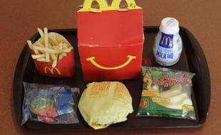 Un menu Happy Meal de chez McDonald's.