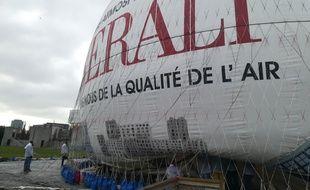 Le Ballon Generali au parc André Citroën.