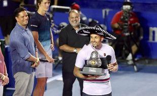 Nick Kyrgios a remporté le tournoi d'Acapulco, au Mexique, le 2 mars 2019.