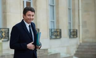 Benjamin Griveaux à l'Elysée, le 7 mars 2018.