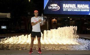 Rafael Nadal a remporté l'US Open face à Anderson, le 10 septembre 2017.