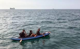 Trois migrants ont tenté de traverser la Manche, le 4 août 2018.