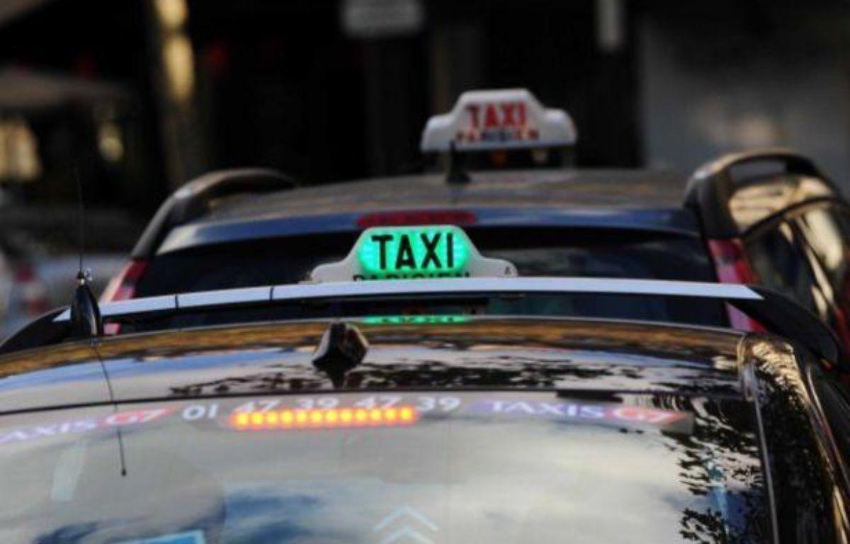 Illustration sur les taxis parisiens. – A.REAU / SIPA