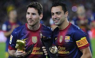 Les Barcelonais Messi et Xavi, le 3 novembre 2012