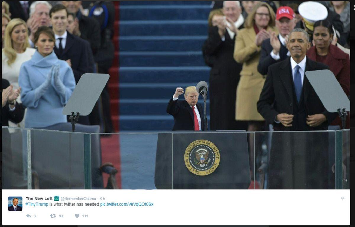 Capture d'écran d'un photomontage posté sur Twitter. – @RememberObama
