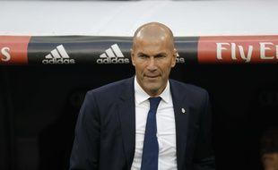 Zinédine Zidane, le coach du Real Madrid, le 23 avril 2017.