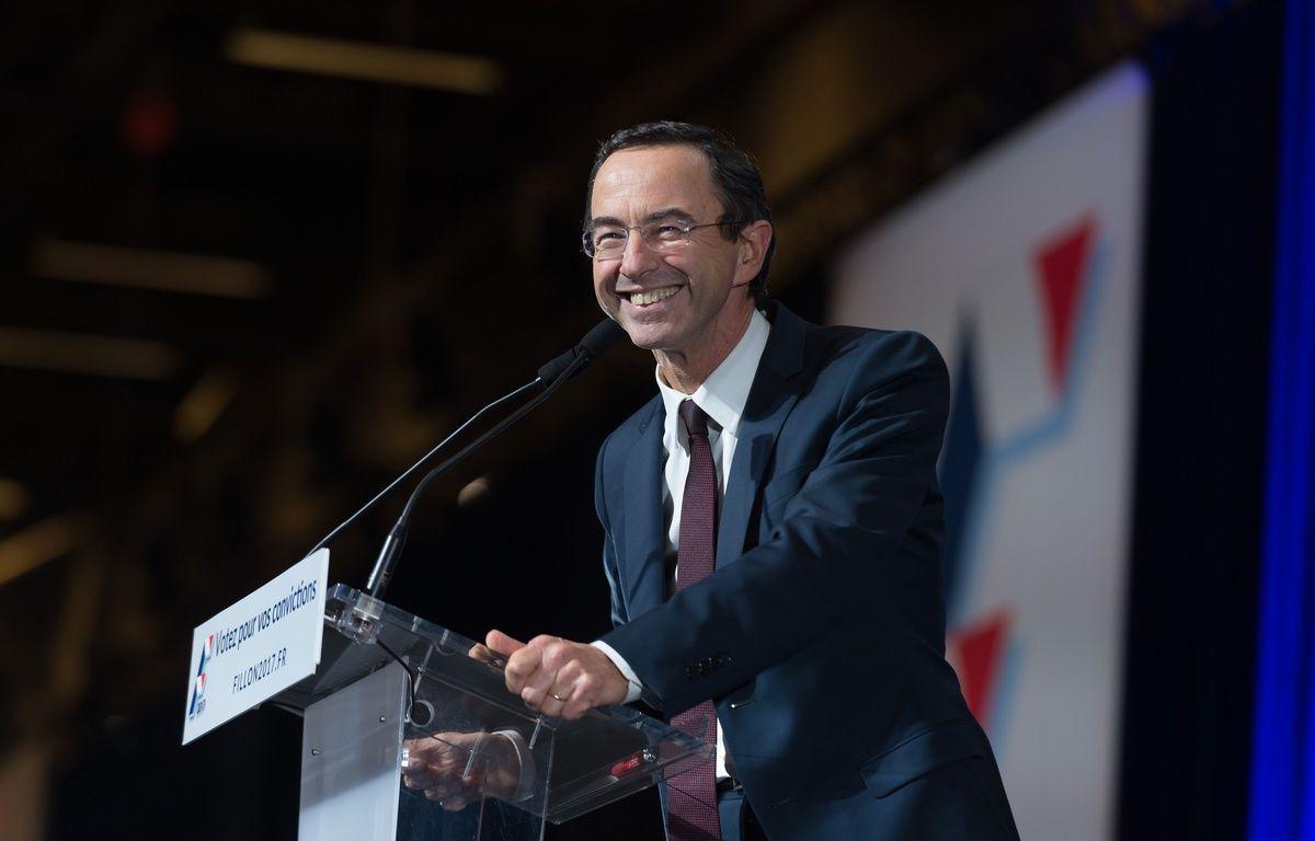 Bruno Retailleau, Porte de Versailles, lors d'un meeting de soutien à François Fillon. – SIPA