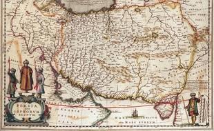 Une ancienne carte du royaume de Perse en 1641.