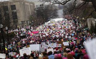 Manifestation à Washington le samedi 21 janvier 2017 contre le nouveau président Donald Trump.