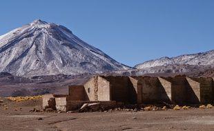 Le campement minier Saciel dans le désert d'Atacama au Chili.