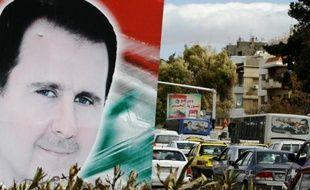 Un portrait de Bachar al-Assad dans les rues de Damas, le 4 mars 2015