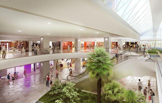 L'intérieur du centre commercial Compans-Caffarelli après le réaménagement.