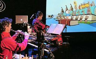 Deux musiciens accompagneront le ciné-concert de ce mercredi (16h).