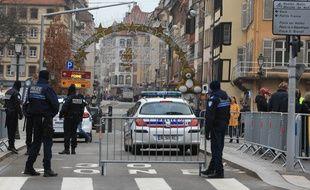 Contrôles à l'entrée du centre-ville de Strasbourg le 12 décembre 2018.