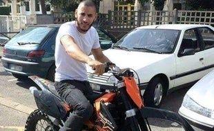 Une photo tirée du compte Facebook non authentifié de Larossi Abballa, terroriste présumé qui a abattu deux policiers dans les Yvelines, le 14 juin 2016