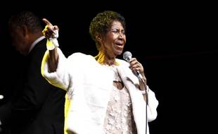 La chanteuse Aretha Franklin en novembre 2017 à New York.