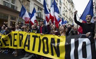 Manifestation de Génération identitaire à Paris. (Illustration)