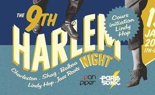 Visuel vintage pour la 9e Harlem Night du Pan Piper