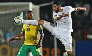 Le défenseur de l'Algérie Rafik Halliche, le 19 janvier 2015 contre l'Afrique du Sud.