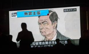Carlos Ghosn lors de son audience, le 8 janvier 2019 (image d'illustration).