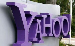 Le logo de Yahoo! au siège du groupe internet à Sunnyvale, le 17 juillet 2012 en Californie
