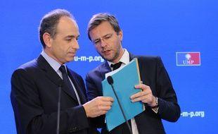 Jean-François Copé et Jérôme Lavrilleux, le 22 mars 2012.