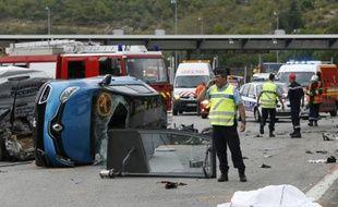 Accident de la circulation le 11 septembre 2015 à La Turbie dans le sud de la France
