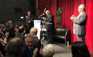 Jean-Claude Gaudin lors de ses derniers voeux au syndicat FO.
