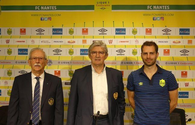 Michel Valet, Jacky et Tanguy, dirigeants de la section féminine du FC Nantes.
