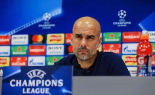 Pep Guardiola avant la rencontre contre Liverpool.