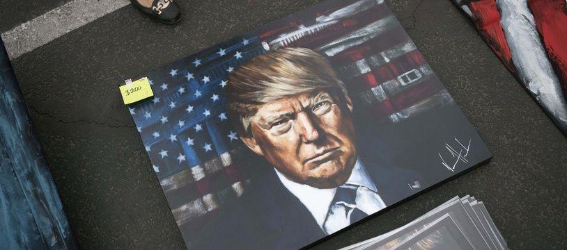 Un portrait du président des Etats-Unis, Donald Trump.
