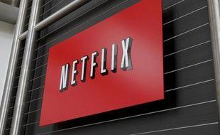 Le logo de Netflix au siège de la société le 13 avril 2011 à Los Gatos en Californie