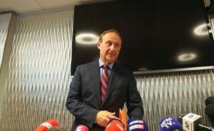 Didier Gailhaguet, président de la Fédération française des sports de glace, lors de sa conférence de presse le 5 février 2020.