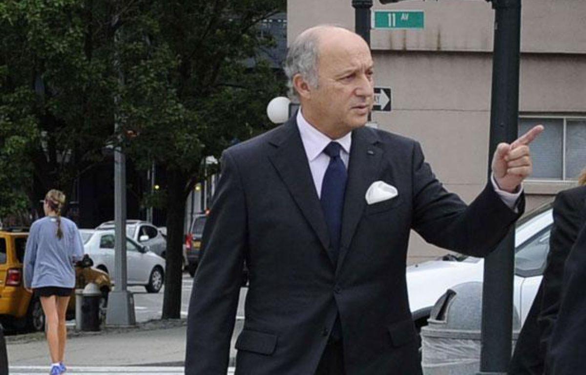 Laurent Fabius le 29 septembre 2012 à New York (Etats-Unis). – BEHAR ANTHONY/SIPAUSA/SIPA